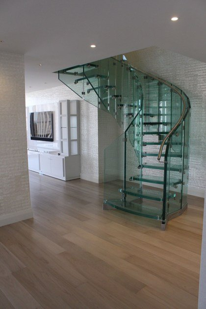 Helical glass Spiral staircase FLY | Helical Spiral staircase by Siller Treppen