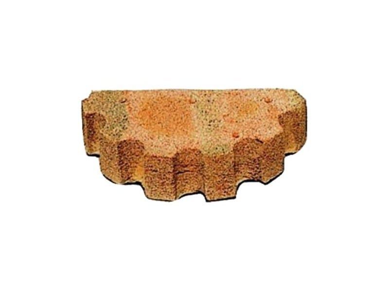Special clay piece for fair faced facade COLONNA GRECA by FORNACE FONTI