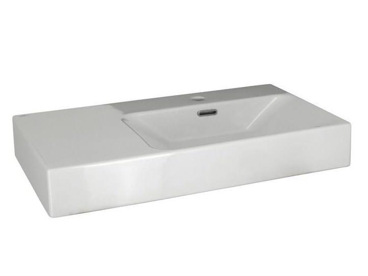 Rectangular single washbasin with overflow ESSENCE-C | Washbasin by Noken
