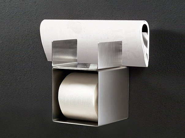 Stainless steel toilet roll holder NEU 40 by Ceadesign
