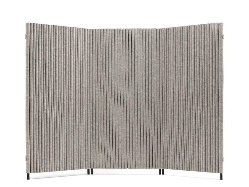 WAVE | Paravento in feltro di lana