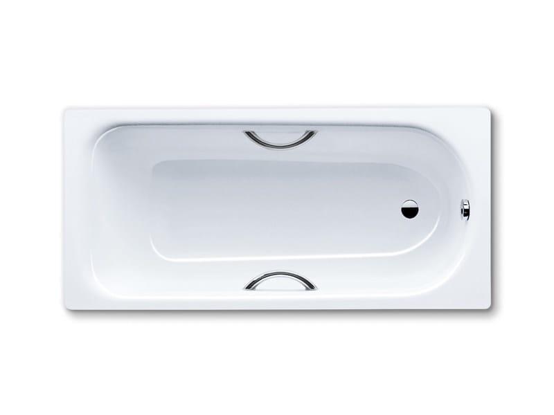 Rectangular built-in enamelled steel bathtub SANIFORM PLUS STAR by Kaldewei Italia