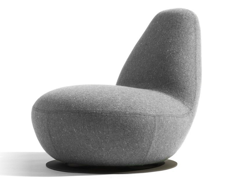 Swivel upholstered armchair OPPO | Swivel armchair by Blå Station