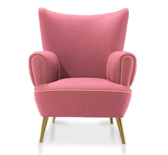 Wing upholstered velvet armchair GARLAND by Ottiu