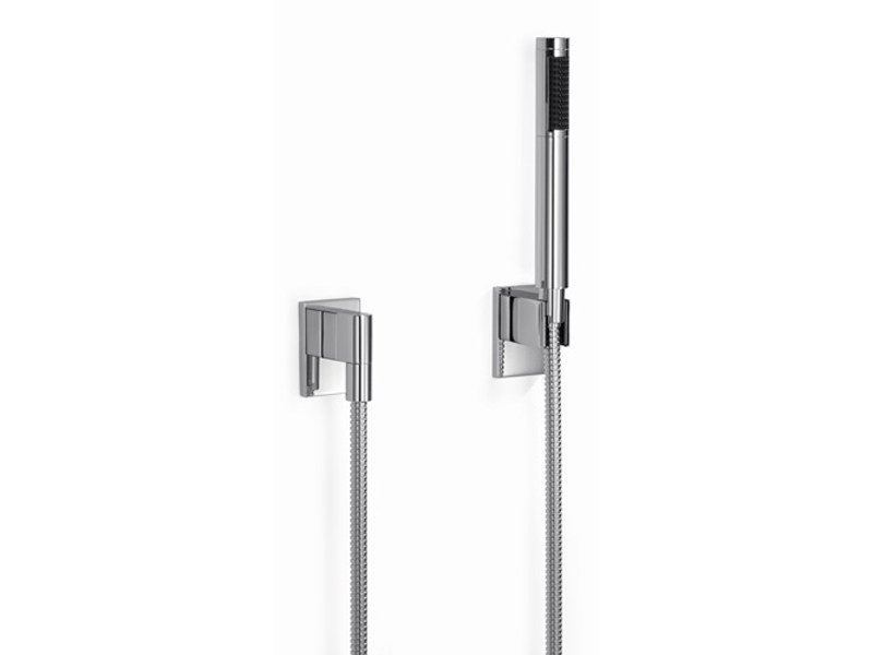Wall-mounted handshower with hose with individual rosettes SUPERNOVA by Dornbracht