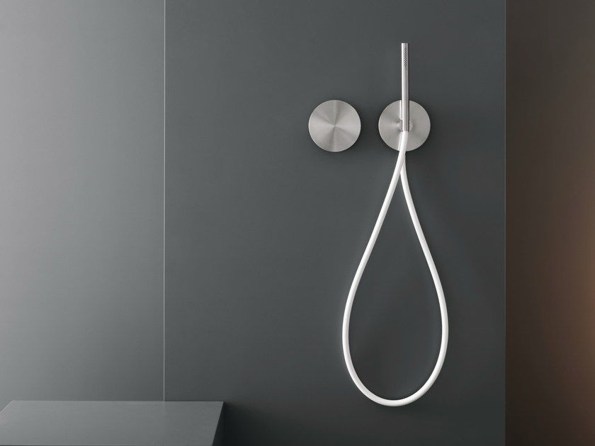 Dual lever wall mounted mixer with hand shower CIR 04 by Ceadesign