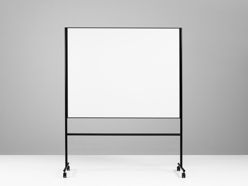 Magnetic swivel office whiteboard with casters ONE Double Sided Whiteboard by Lintex