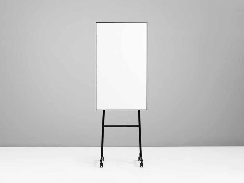Magnetic office whiteboard with casters ONE Mobile Flip Chart by Lintex