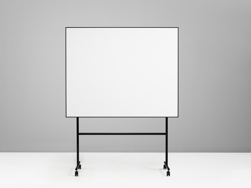 Magnetic office whiteboard with casters ONE Mobile Whiteboard by Lintex