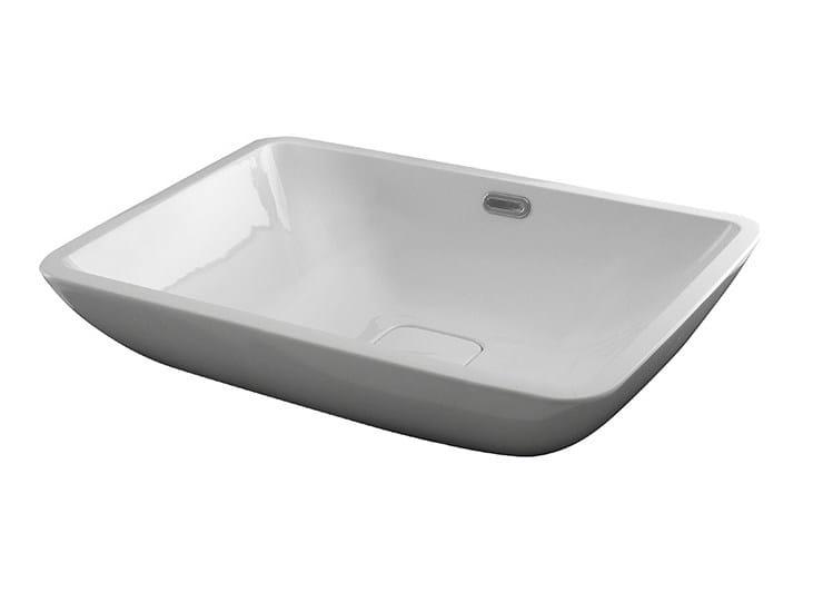 Countertop rectangular single washbasin FORMA | Countertop washbasin by NOKEN