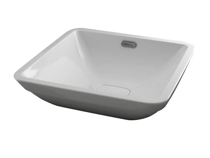 Semi-inset washbasin with overflow FORMA | Semi-inset washbasin by NOKEN