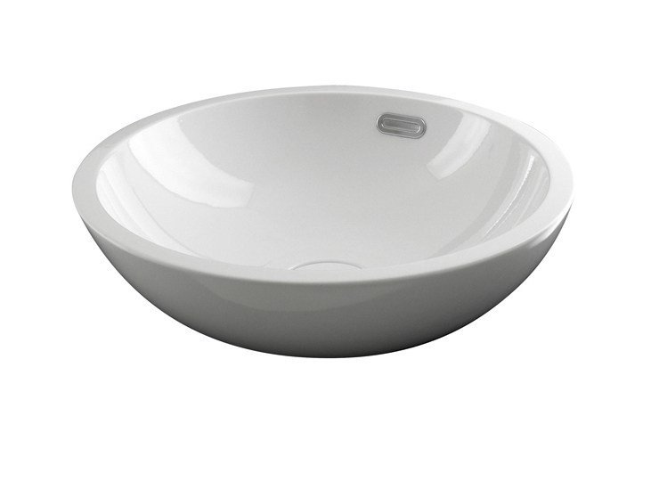 Countertop round washbasin with overflow FORMA | Single washbasin by NOKEN