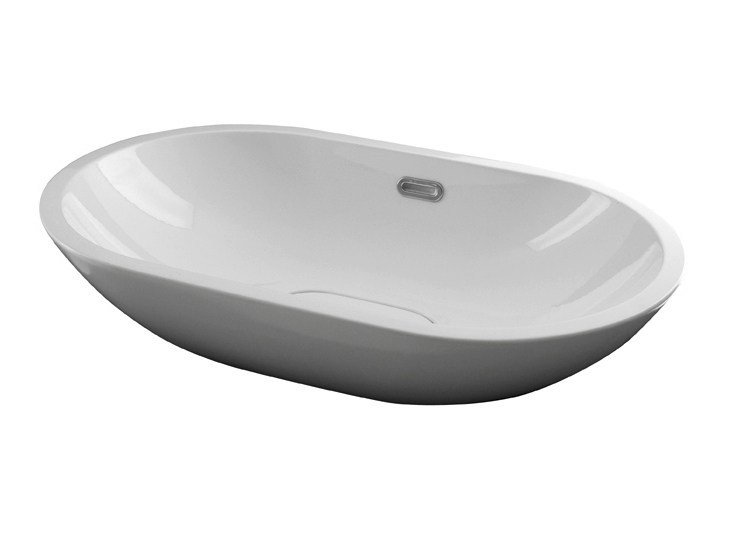 Countertop oval washbasin with overflow FORMA | Washbasin with overflow by Noken
