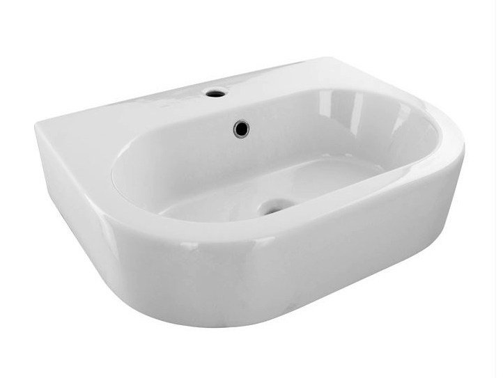Oval single washbasin with overflow ARQUITECT | Washbasin by Noken