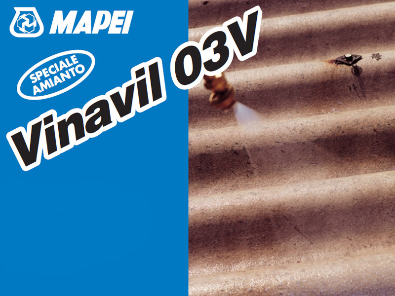 Asbestos encapsulation treatment and product VINAVIL 03V by MAPEI