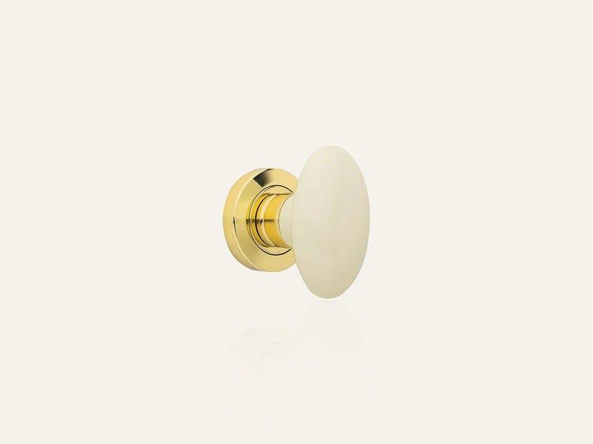 Ottone lucido verniciato + porcellana beige