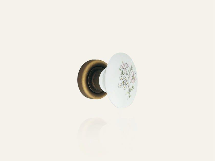 Bronzo opaco + porcellana bianca margherita