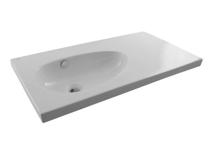 Inset washbasin with integrated countertop with overflow HOTELS | Washbasin with overflow by Noken