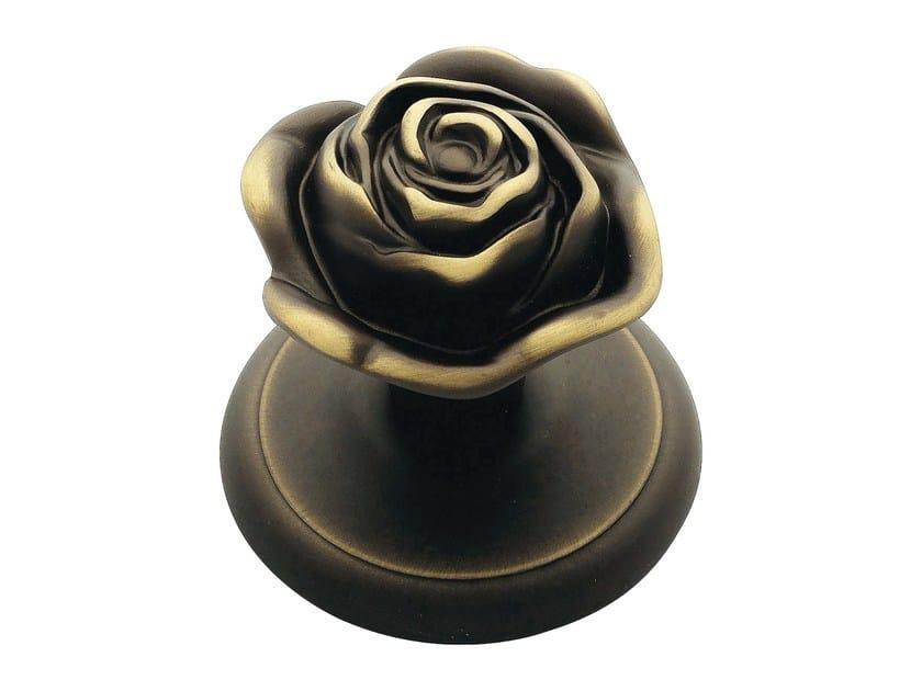 Classic style brass door knob ROSE | Door knob by LINEA CALI'