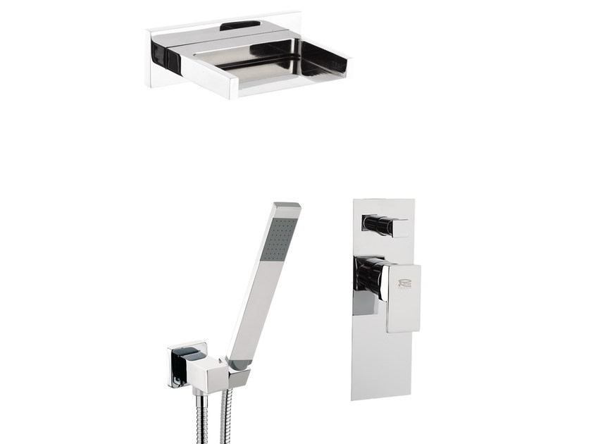 Shower mixer with diverter with hand shower FLASH | Set doccia by Remer Rubinetterie