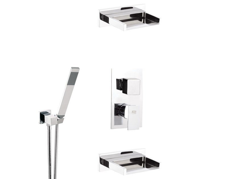 Shower mixer with diverter and hand shower FLASH | Set doccia by Remer Rubinetterie