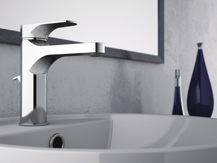 Chrome-plated countertop single handle washbasin mixer CLASS LINE | Chrome-plated washbasin mixer by Remer Rubinetterie