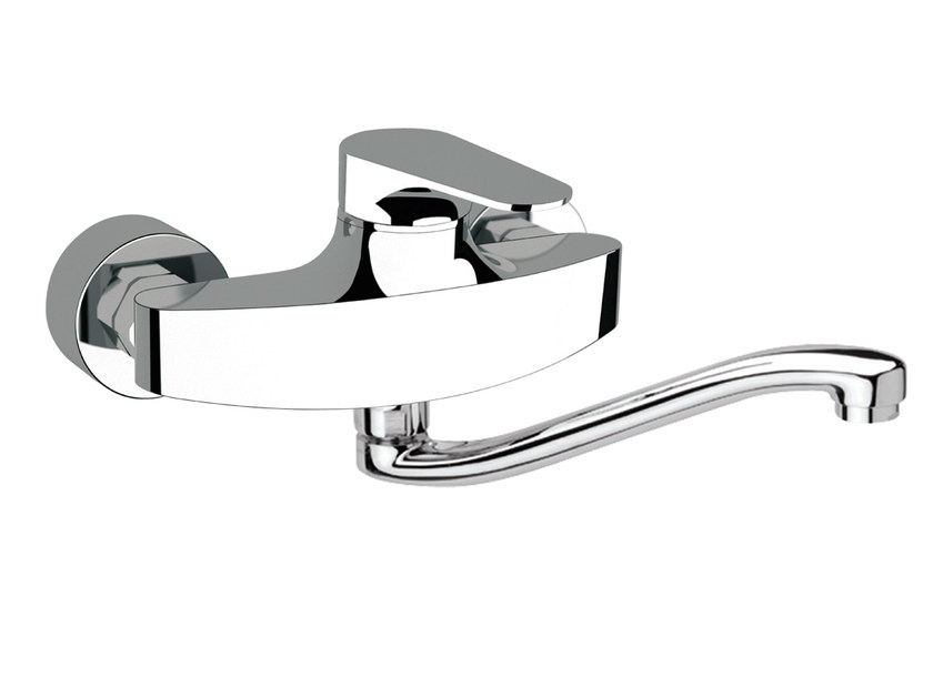Wall-mounted kitchen mixer tap with swivel spout CLASS LINE | Wall-mounted kitchen mixer tap by Remer Rubinetterie