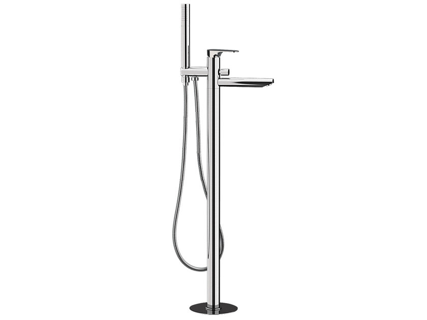 Chrome-plated floor standing bathtub mixer with hand shower CLASS LINE | Floor standing bathtub mixer by Remer Rubinetterie