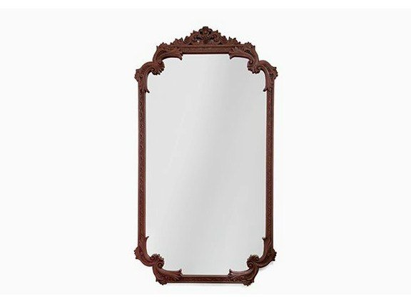 Rectangular wall-mounted framed mahogany mirror LOUIS XVI by Boca do Lobo
