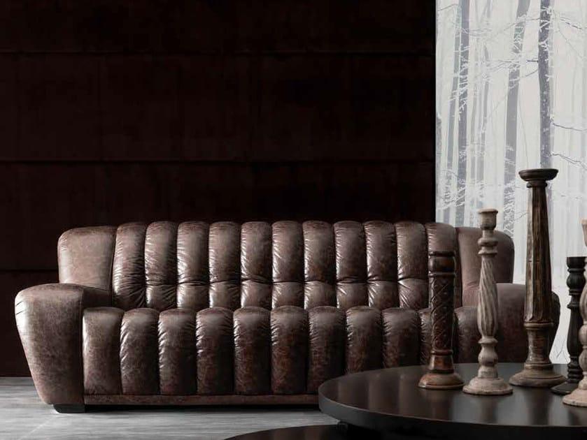 3 seater leather sofa VICTOR by CorteZari
