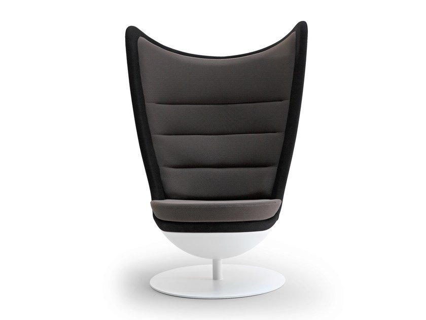 Swivel trestle-based armchair BADMINTON by ACTIU