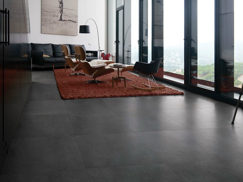 Porcelain stoneware flooring with concrete effect TALM | Flooring by NOVOCERAM
