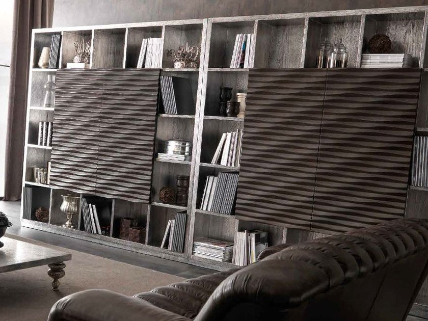 Silver leaf bookcase EBON | Silver leaf bookcase by CorteZari