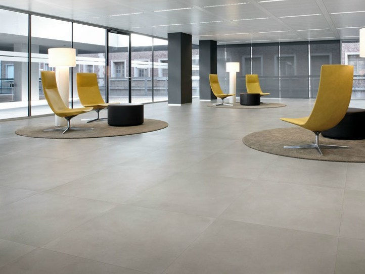 Porcelain stoneware flooring with concrete effect CIMENT by NOVOCERAM
