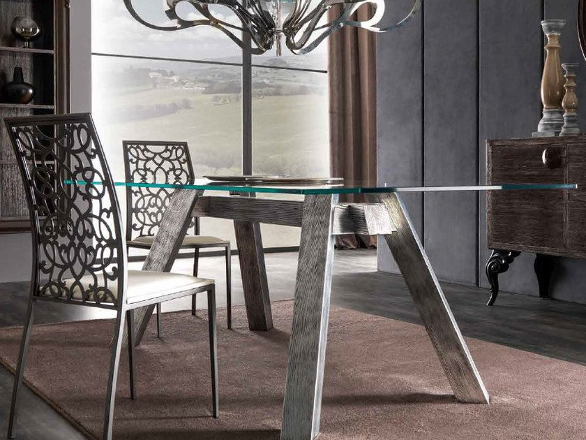 Rectangular glass table SOHO | Glass table by CorteZari