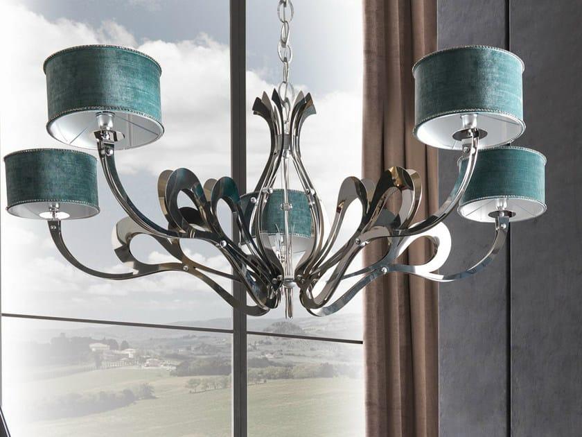 Nickel chandelier ORIONE-ROLL by CorteZari