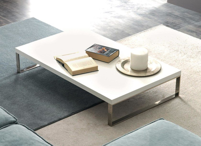 Low rectangular wooden coffee table QUADRA | Coffee table by CorteZari