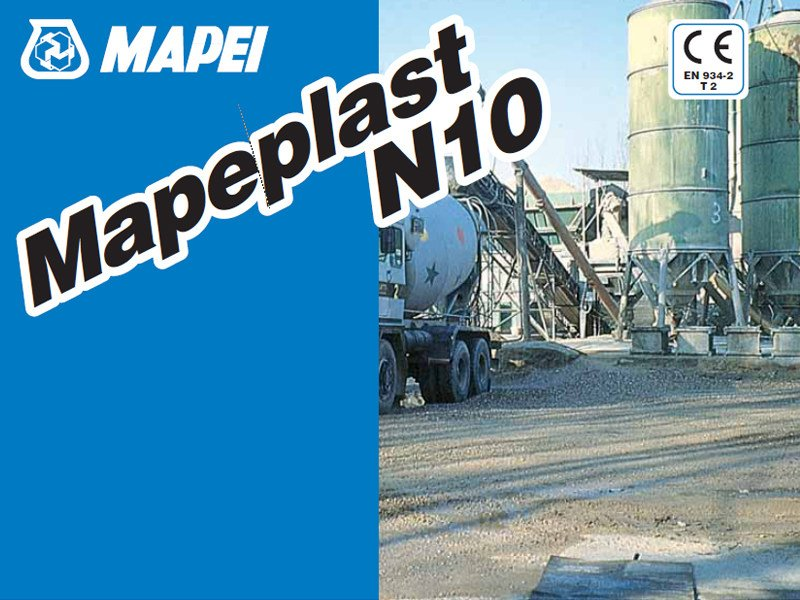 Additive for cement and concrete MAPEPLAST N10 by MAPEI