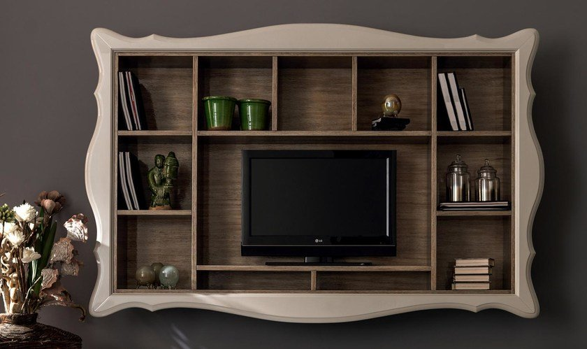 Con AliceParete Porta Fissata A Cortezari Tv Attrezzata Muro P8nO0wk