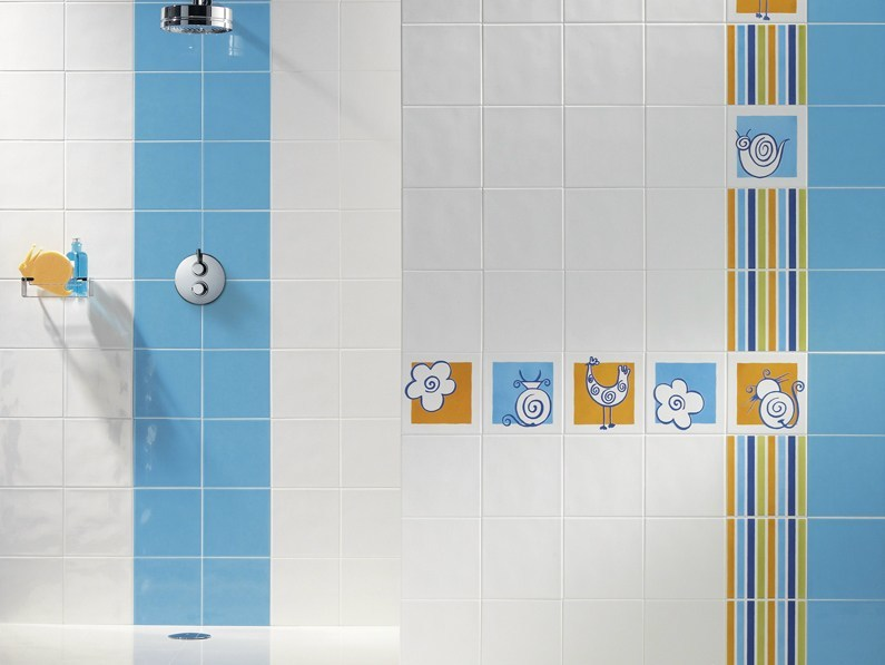 Glazed stoneware wall tiles CROKIS by Revigrés