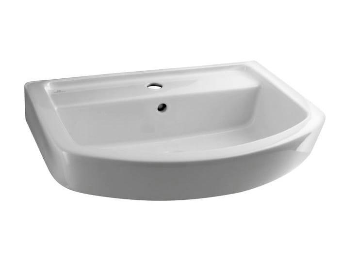 Rectangular single washbasin with overflow ACRO | Wall-mounted washbasin by Noken