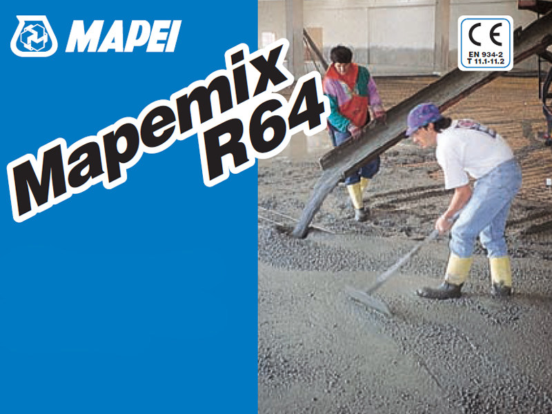 Additive for cement and concrete MAPEMIX R64 by MAPEI