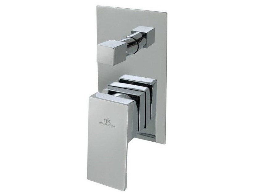 Chrome-plated shower tap with plate NK LOGIC | Shower tap by Noken