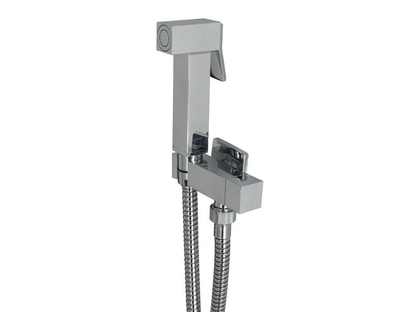 Chrome-plated handshower with bracket ACRO-N | Handshower by Noken