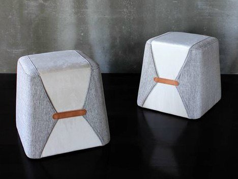 Upholstered fabric pouf STOCKHOLM | Pouf by VANGUARD CONCEPT