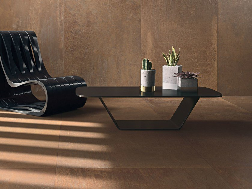 Porcelain stoneware wall/floor tiles with metal effect METAL by COTTO D'ESTE