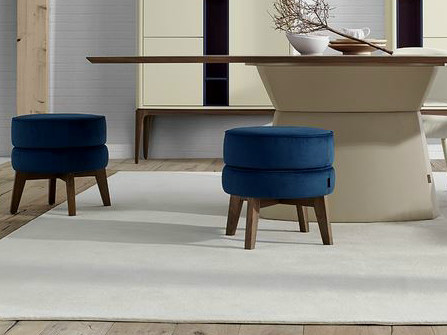 Upholstered fabric pouf PARIS by VANGUARD CONCEPT