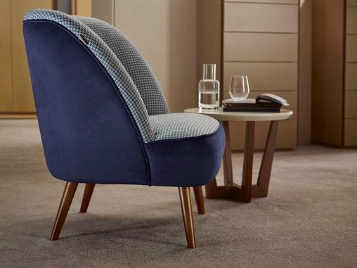 Upholstered fabric armchair STOCKHOLM | Armchair by VANGUARD CONCEPT