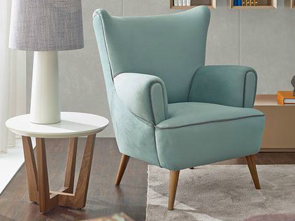 Wing upholstered fabric armchair with armrests VENICE | Armchair by VANGUARD CONCEPT