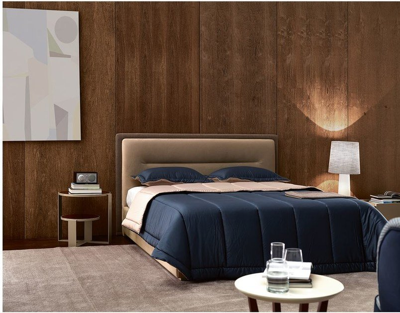 Upholstered double bed with tufted headboard VENICE   Bed by VANGUARD CONCEPT